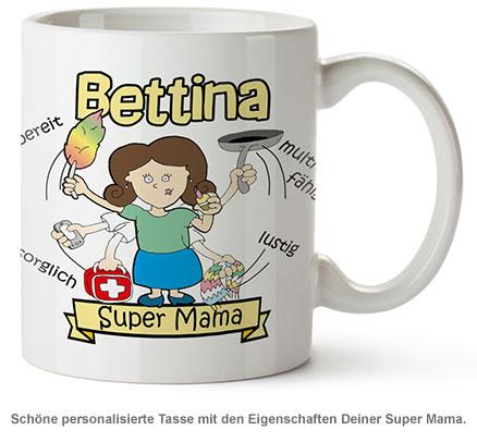 Personalisierte Tasse - Super Mama - 2