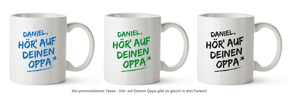 Personalisierte Tasse - Hör auf Deinen Oppa - 3