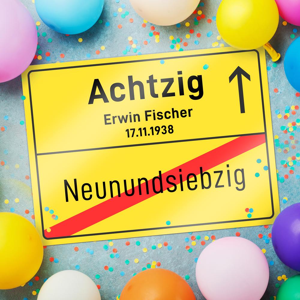 Geburtstag Schild Freund Freundin Geschenkidee Geschenk 12 Jahre Ortsschild 12
