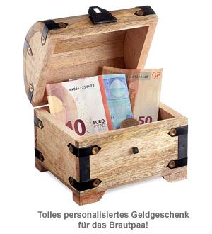 Geld Schatztruhe zur Hochzeit - Jawort Gravur - 2