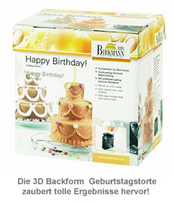 3D Backform Geburtstagstorte - 2
