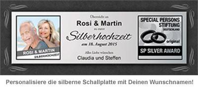 Schallplatte -  personalisiert zur Silbernen Hochzeit - 3