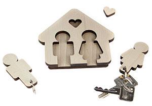 Schlüsselbrett - Mann & Frau - 4