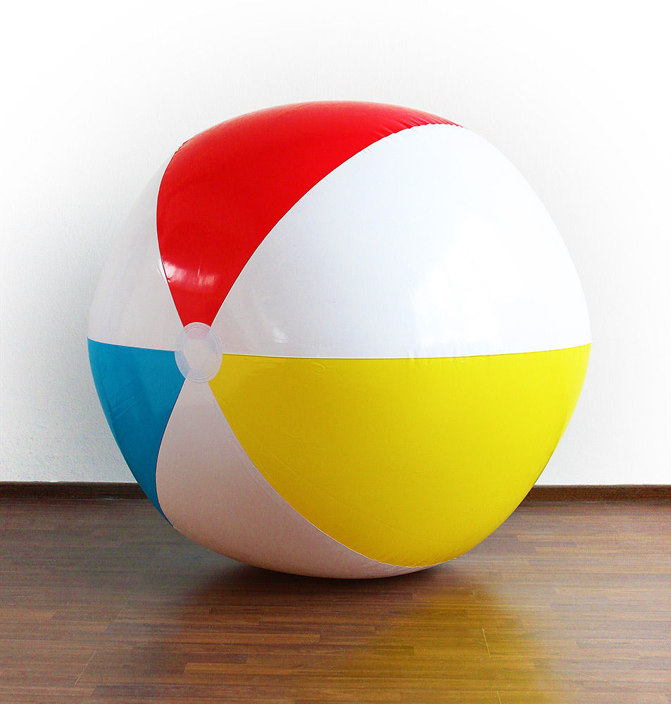 Aufblasbarer Wasserball Strandball Ball GELB 21 cm