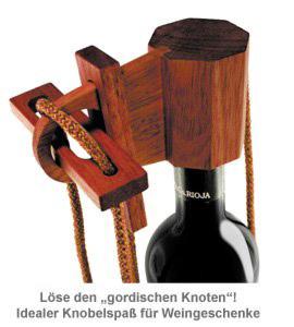 Graviertes Edelholz Flaschenpuzzle zur Hochzeit - 3