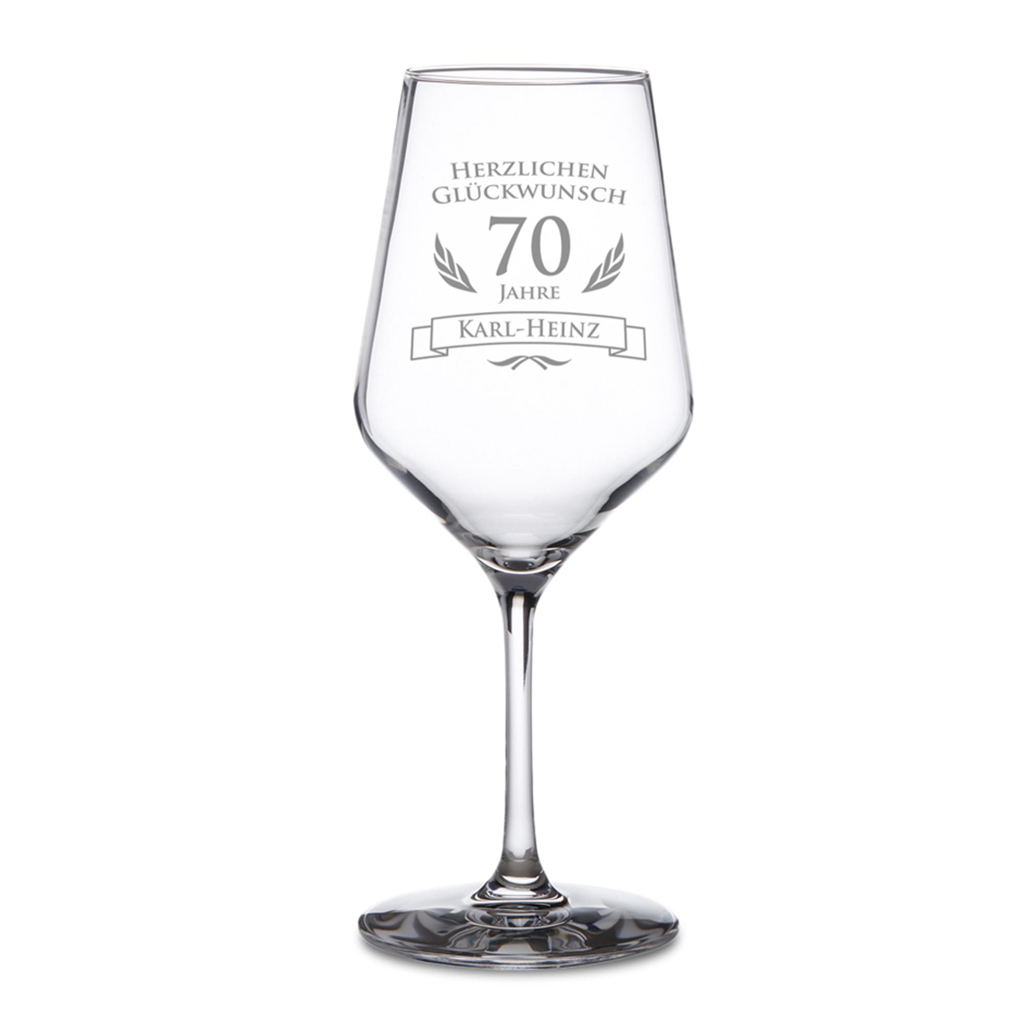 Weißweinglas zum 70. Geburtstag - 2