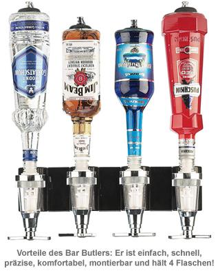 Bar Butler für die Wand - 4er Flaschenhalter - 3