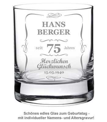Whiskyglas zum Geburtstag - Klassisch - 2