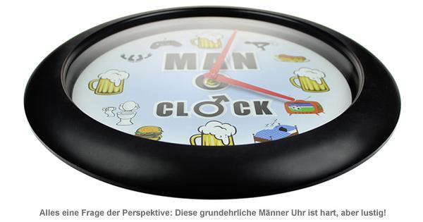 Männer Uhr - Wanduhr mit Sound - 3