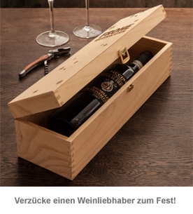 Edle Weinkiste - mit Weihnachtsgravur - 3