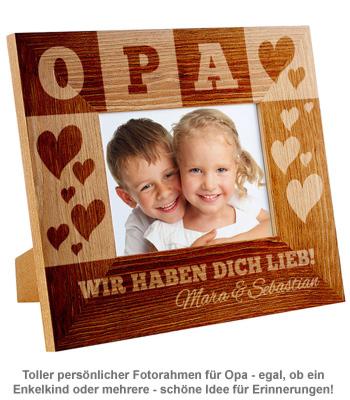 Personalisierter Bilderrahmen für Opa - 2