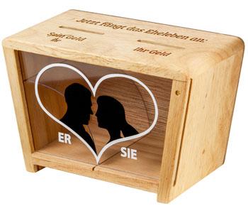 Gravierte Spardose - Eheleben - 2