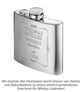 Flachmann mit Gravur - Whisky Genießer - 2