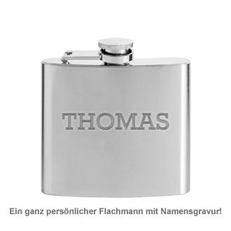 Flachmann mit Gravur - Name - 2