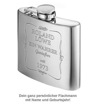 Flachmann mit Gravur - Ein wahrer Genießer - 2