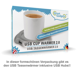 USB Tassenw�rmer mit USB-Hub - 3