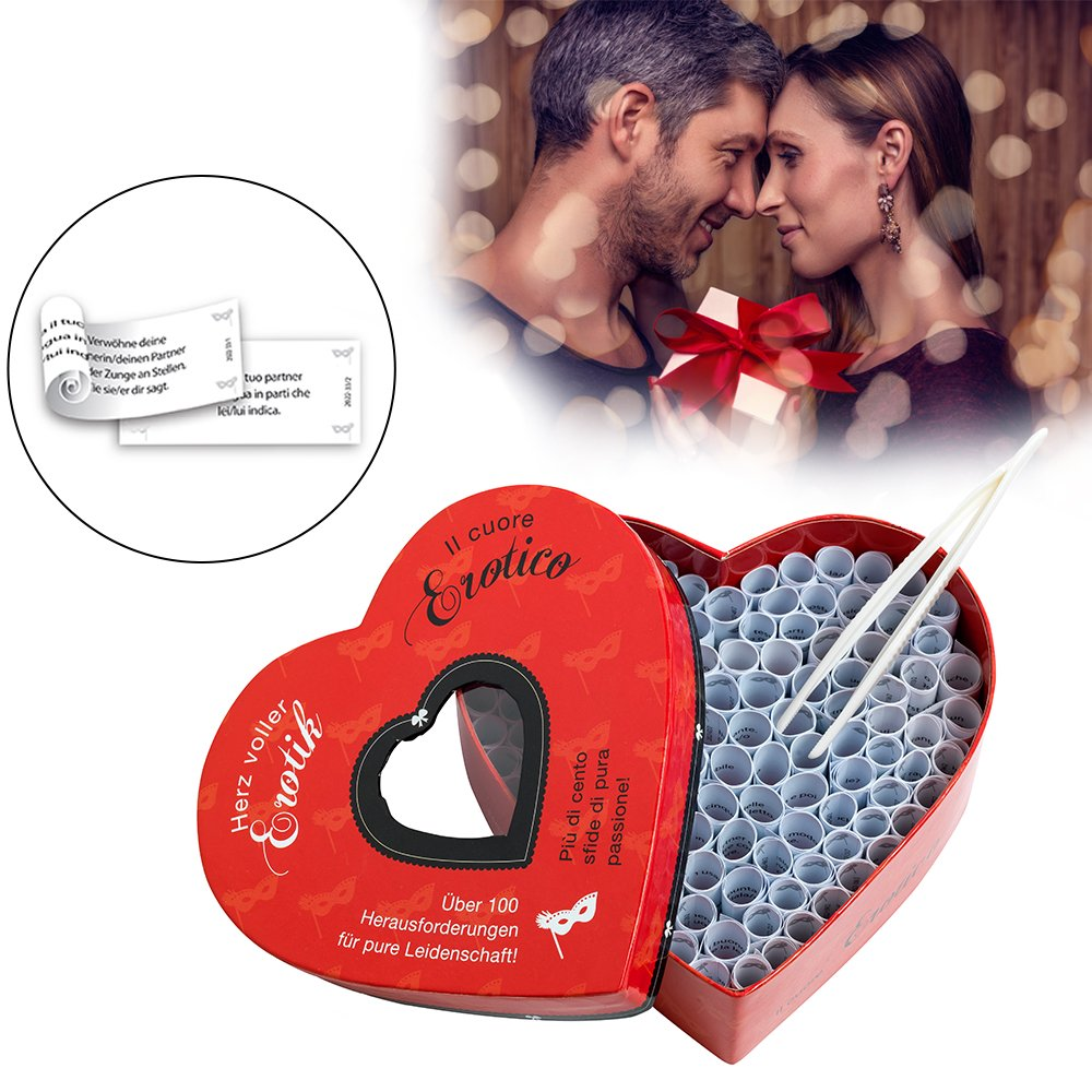 Herz voller Erotik für Paare - 100 Lose mit Herausforderungen