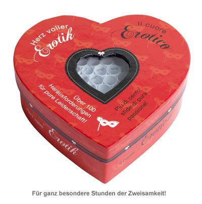 Herz voller Erotik - Set mit 100 Losen für Paare - 2