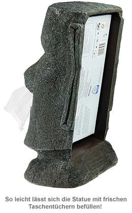 Moai Taschentuchspender - Steingesicht - 2