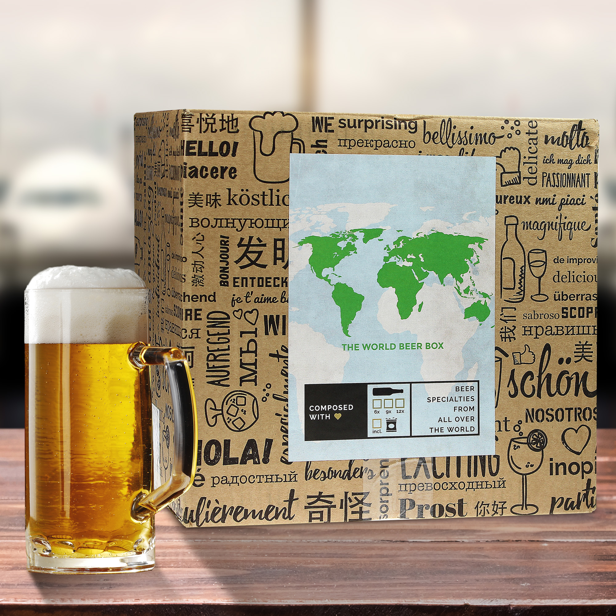Bier Weltreise Xl 12er Geschenkbox