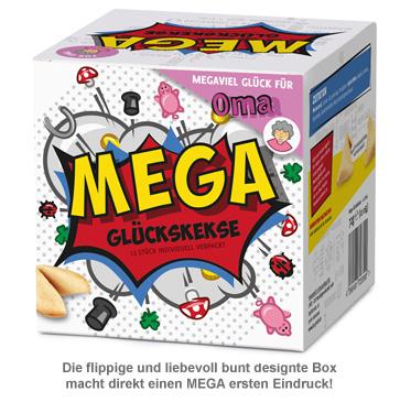mega gl ckskekse geschenkbox f r oma 12teilig mit spruch. Black Bedroom Furniture Sets. Home Design Ideas