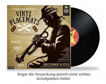 Tischset im Vinyl Schallplatten Look - 4-teilig - 3