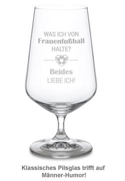 Bierglas mit Gravur - Frauenfußball - 2