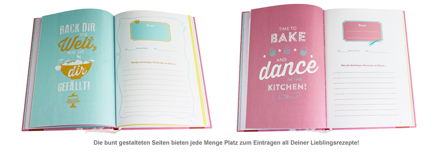 Rezeptbuch zum Ausfüllen - Baking Queen - 2