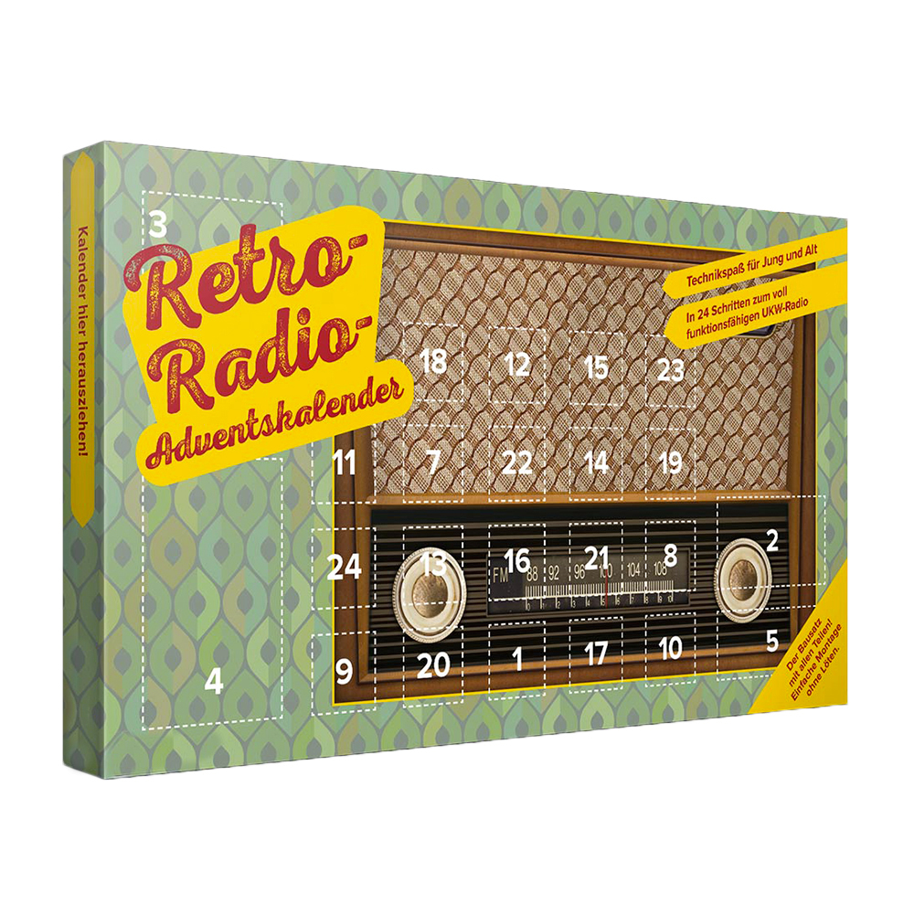 adventskalender ukw radio bausatz im kultigen retro look. Black Bedroom Furniture Sets. Home Design Ideas