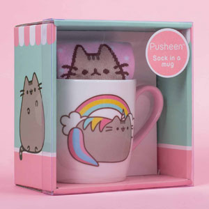 Pusheen Katzen Tasse mit Socken - Einhorn - 3