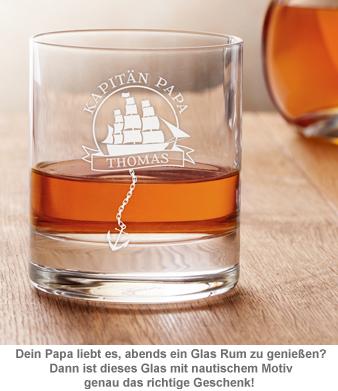 Personalisiertes Rumglas für Papa - Segelschiff - 3