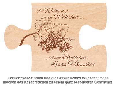 Weinhäppchen - Glas und Brettchen personalisiert - 2