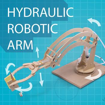 Hydraulischer Robotererarm zum Selberbauen - 4