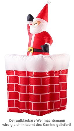 Aufblasbarer Weihnachtsmann mit Schornstein - 180 cm - 2