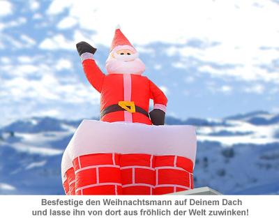 Aufblasbarer Weihnachtsmann mit Schornstein - 180 cm - 3