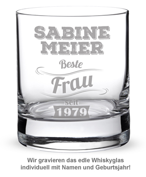 Whiskyglas mit Gravur - Beste Frau - 2