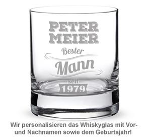 Whiskyglas mit Gravur - Bester Mann - 2