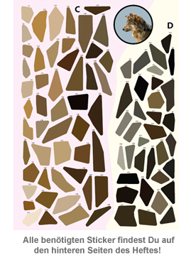 Kreativ mit Stickern - Wunderbares Waldleben - 3