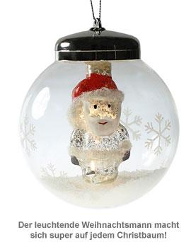 LED Weihnachtskugel - Weihnachtsmann - 2