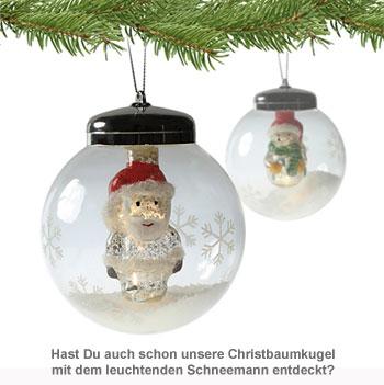 LED Weihnachtskugel - Weihnachtsmann - 3