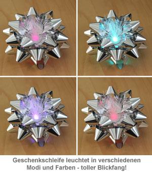 Geschenkschleife mit LED Farbwechsel - 2