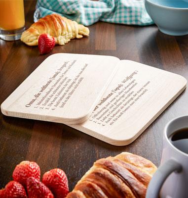 Frühstücksbrettchen Set mit Gravur - Definition Großeltern - 4