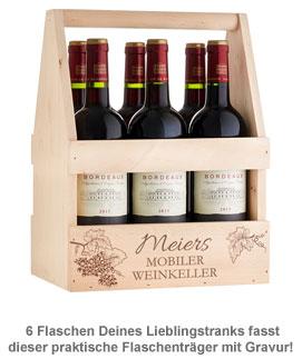 Flaschenträger mit Gravur - Mobiler Weinkeller - 3