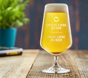 Bierglas - Unsere Liebe - 3