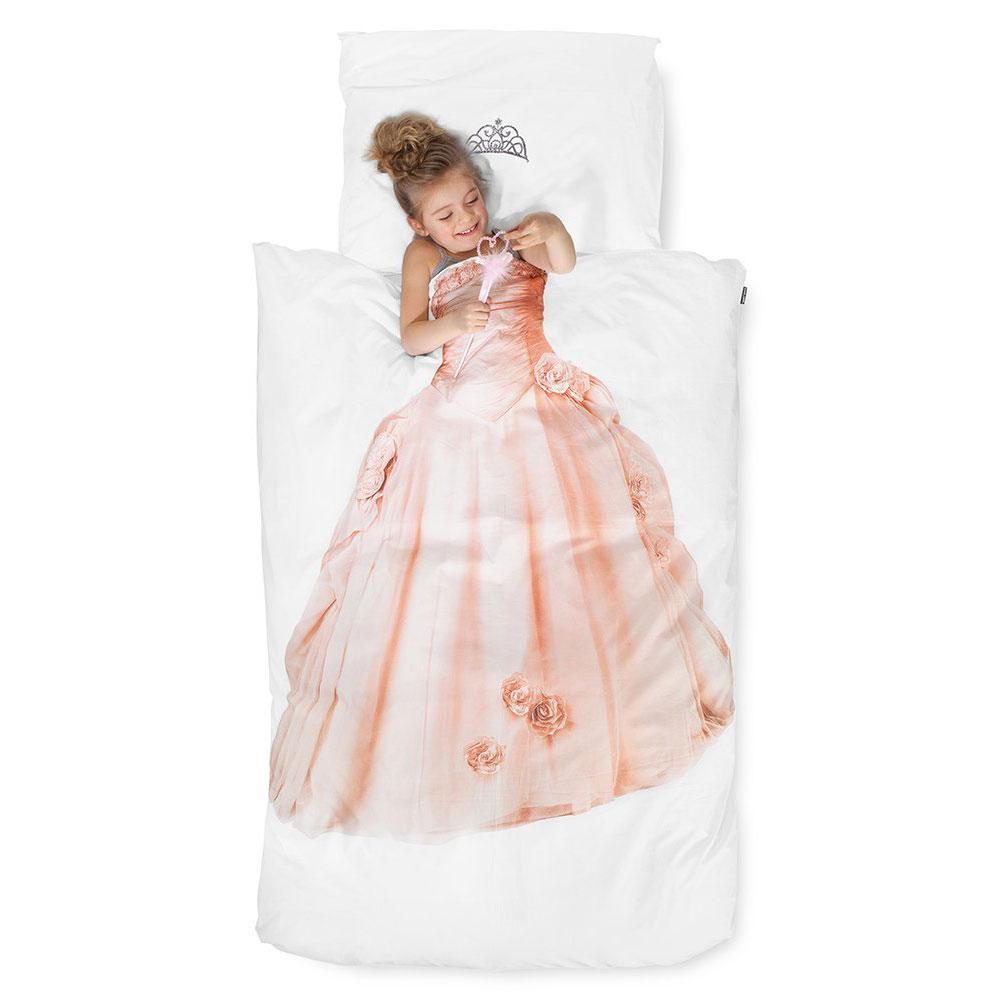 Kinder Bettwäsche Set Prinzessin Mit 80x80cm Kissenbezug