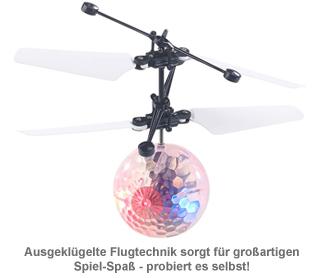 Hubschrauber Ball mit bunter LED-Beleuchtung - 2