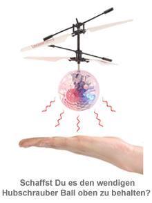 Hubschrauber Ball mit bunter LED-Beleuchtung - 4