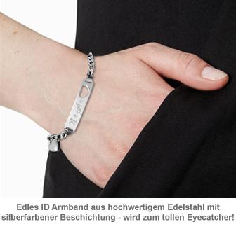 Armband mit Herzstanze Silber - Initialengravur - 2