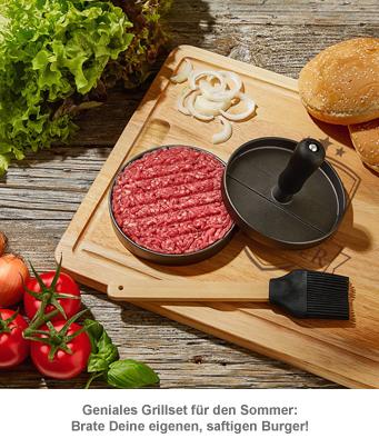 Burgerpresse mit Schneidebrett Grillset - Bester Papa - 2