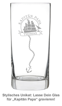 Cocktailglas mit Gravur für Papa - Segelschiff - 2
